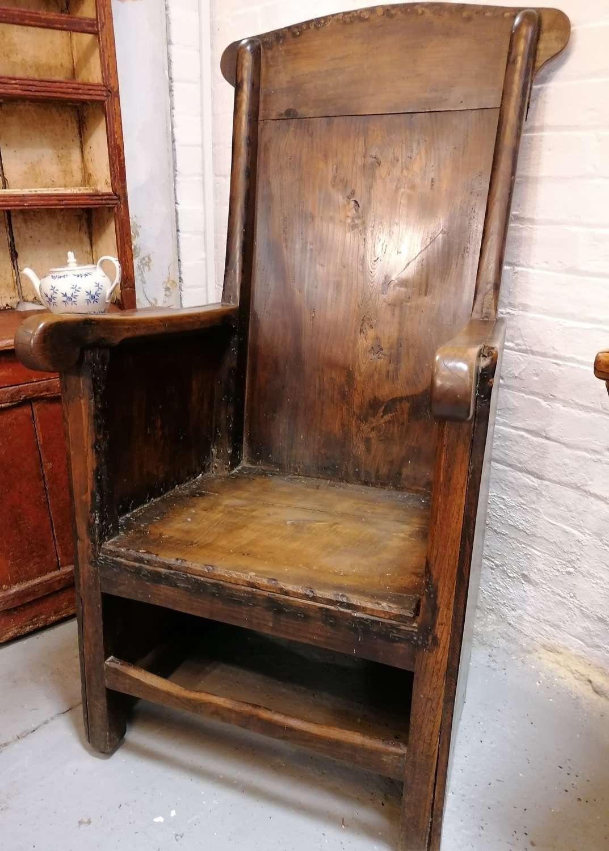 18th/19th C Georgian Lambing Chair NOW SOLD