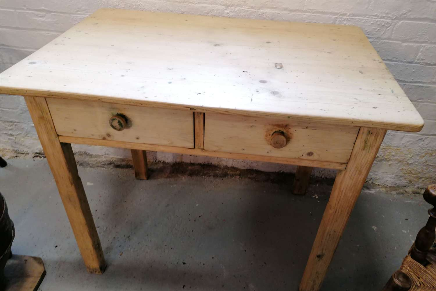 20th C French Pine Kitchen Table