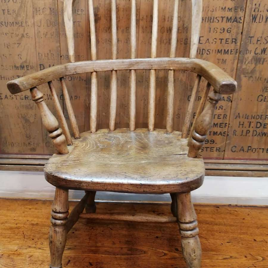 19th C Childs Windsor Chair.