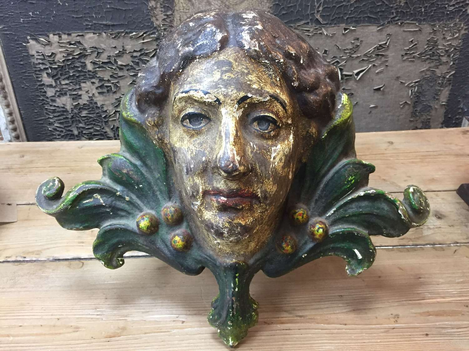 19th C French Cast Iron Barge Head NOW SOLD