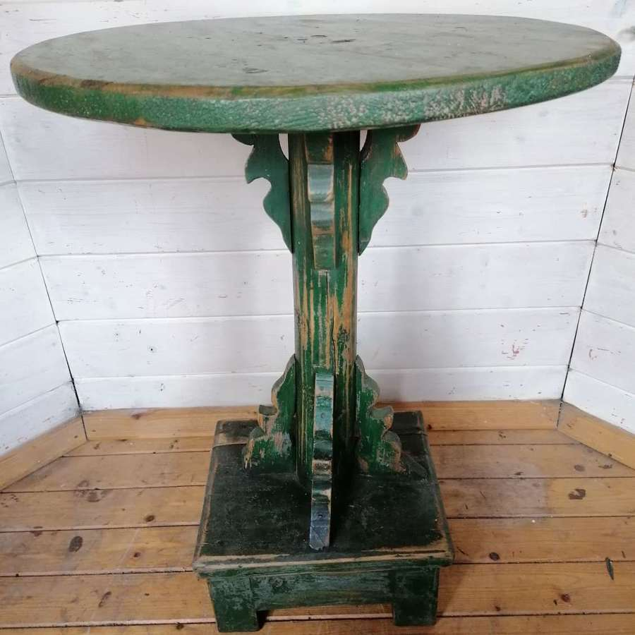 Early 20th C Folk Art Round Table NOW SOLD