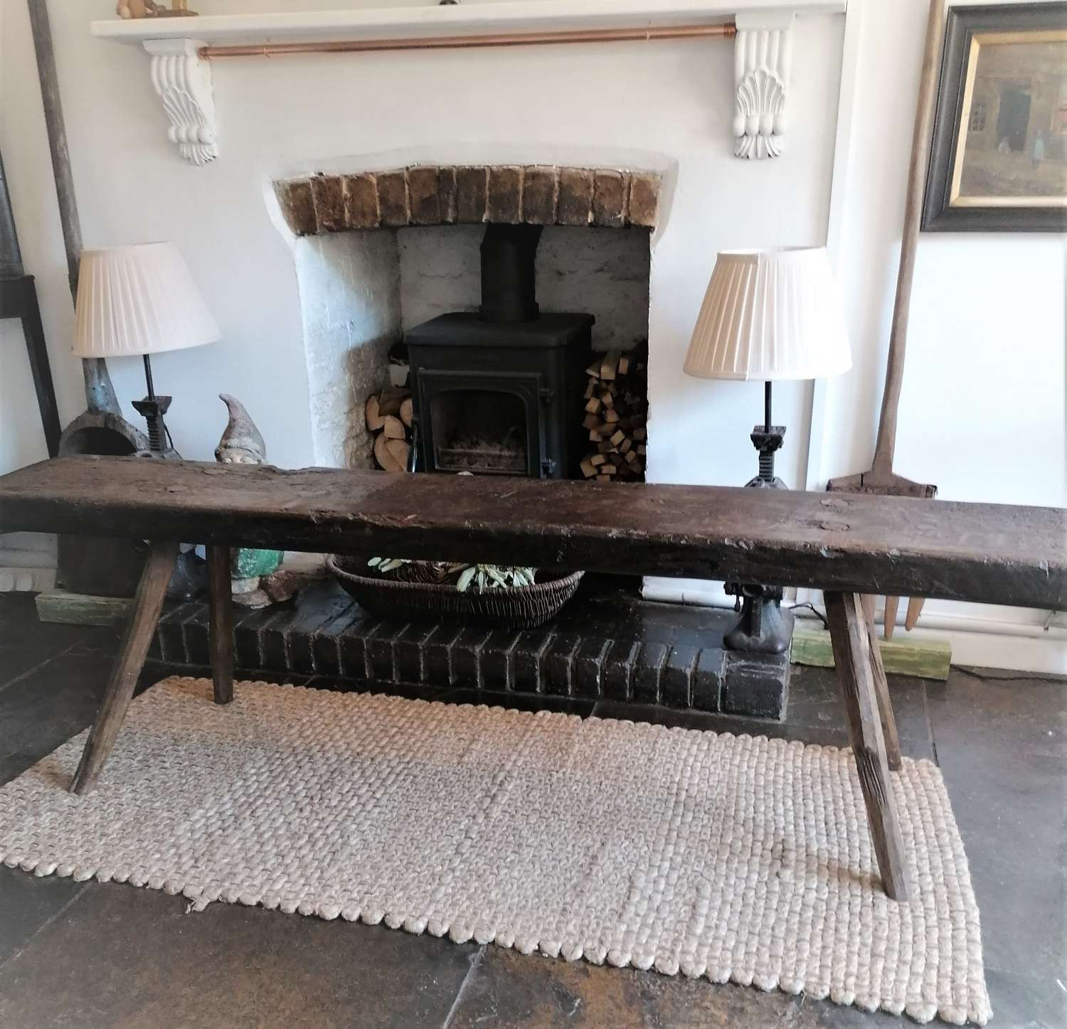 19th C Rustic Spanish Bench NOW SOLD