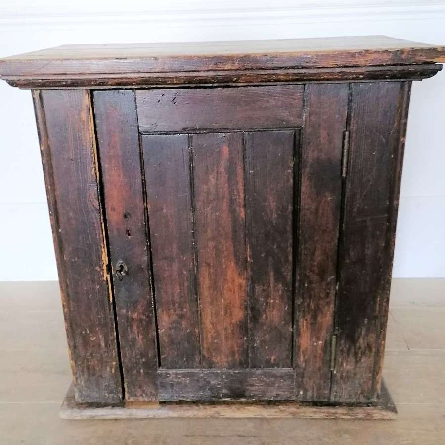 1920,s Stained Pine Engineering Cupboard