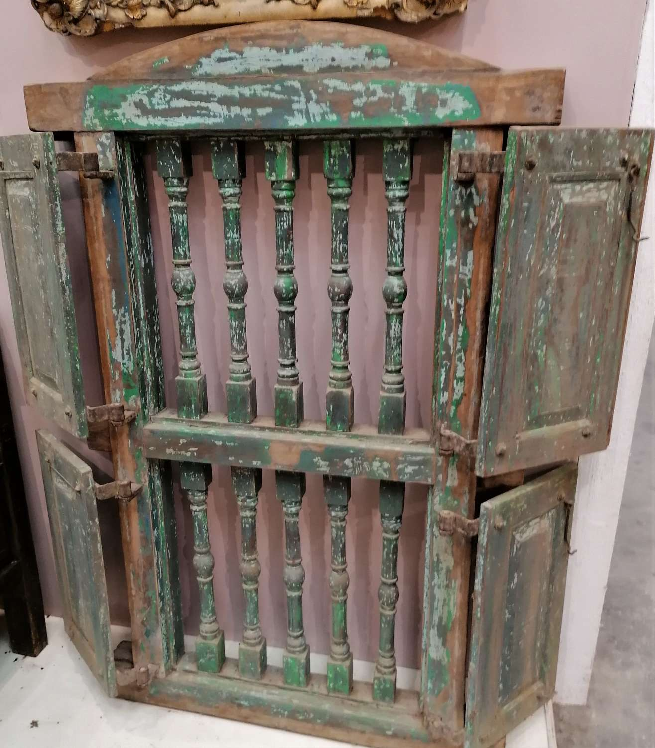 19th C Indian Ornate Window and Shutters NOW SOLD