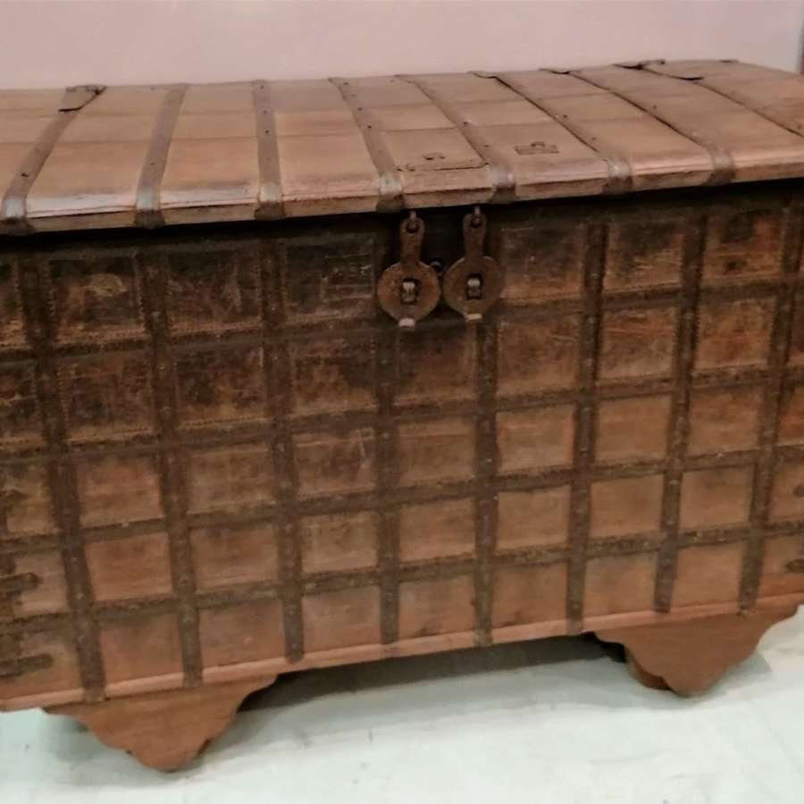 North Indian 19th C Dowry Chest