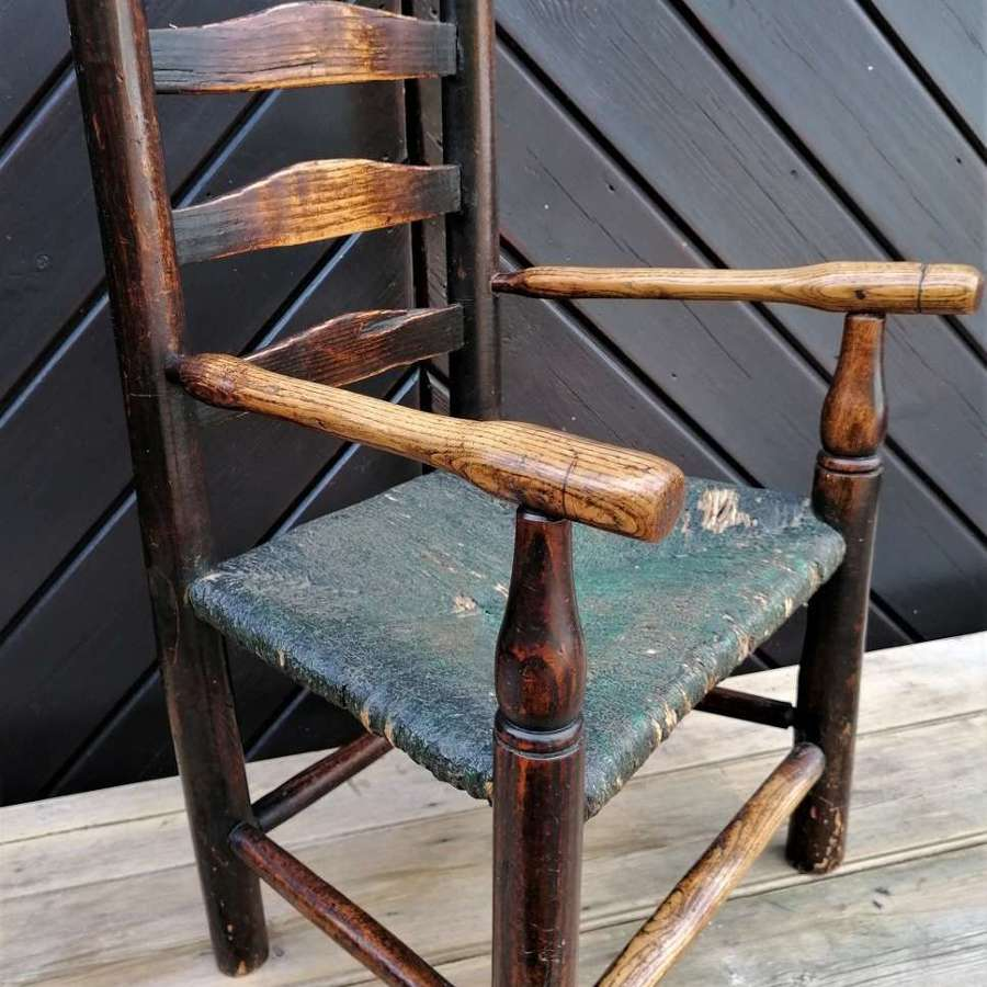 19th C Child,s Ladder back Chair